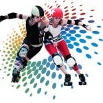Logo Roller Derby multicolore